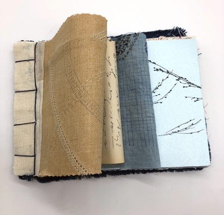 hand-bound notebook