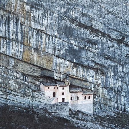 Roverto, Italy- monastery built into mountain
