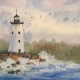 whidbey island lighthouse painting